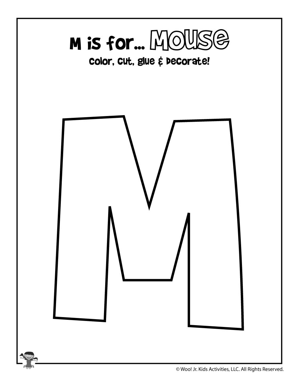 picture about Printable Letter M titled Printable Letter M Craft Woo! Jr. Small children Actions