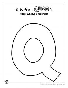Printable Letter Q Craft