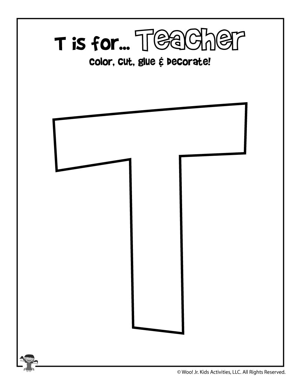 image about Printable Letter T called Printable Letter T Craft Woo! Jr. Youngsters Things to do