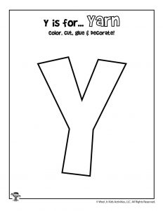 Printable Letter Y Craft