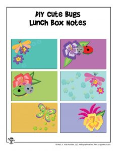 Write Your Own Printable Lunchbox Notes