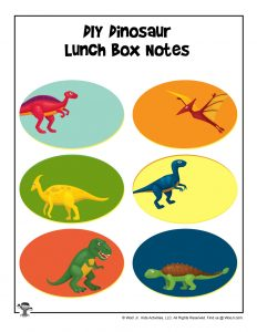 More Dinos Lunchbox Notes