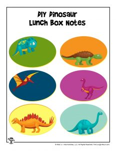 Dinosaurs Lunch Box Notes