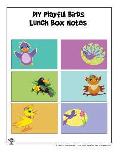 DIY Birds Lunchbox Notes