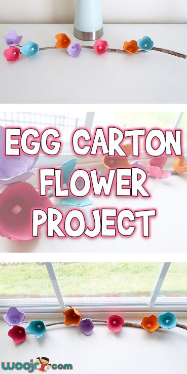 Egg Carton Flower Project