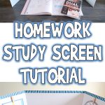 Homework Study Screen Tutorial