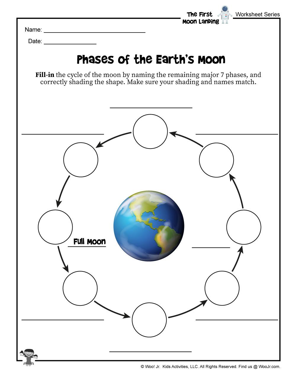 Moon Phases Kids Activity  Woo! Jr. Kids Activities : Children