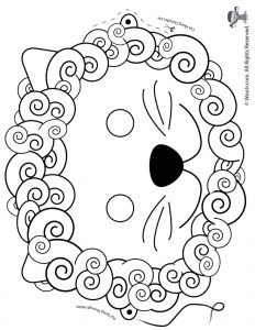Lion Printable Mask