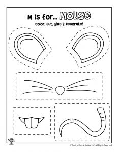 M is for Mouse Coloring Craft Activity