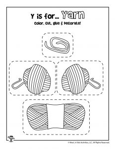 Y is for Yarn - Color, Cut and Paste