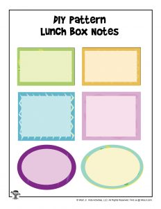 Printable Blank Lunchbox Notes