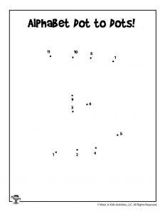 Letter K Dot to Dot