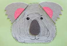 K Koala Art Project for Kids