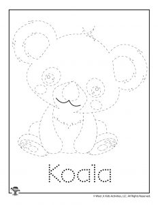 K is for Koala Word Tracing