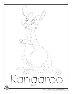 K is for Kangaroo Word Tracing