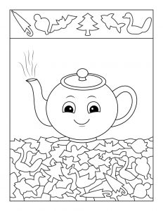 Kettle hidden Picture Worksheet