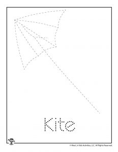 K is for Kite Word Tracing