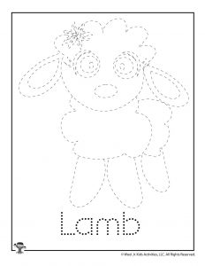 L is for Lamb Word Tracing