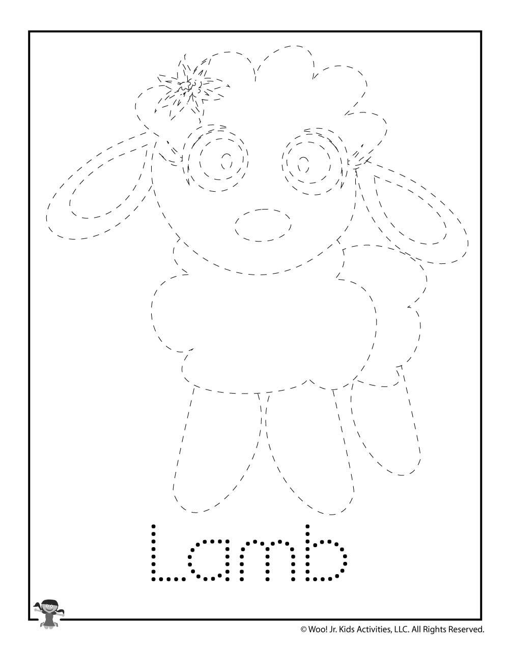 L Is For Lamb Word Tracing Woo Jr Kids Activities
