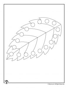 Leaf Printable Lacing Card