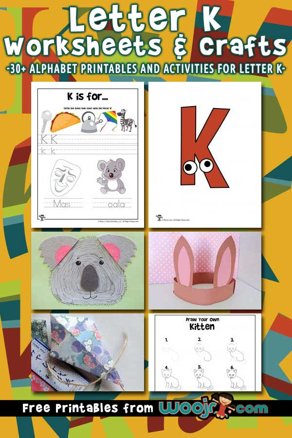 Letter K Worksheets and Crafts