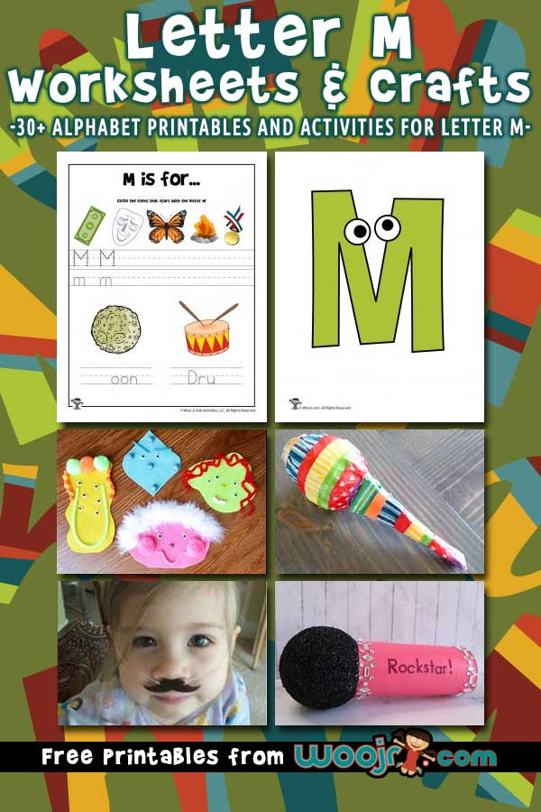 Letter M Worksheets and Crafts