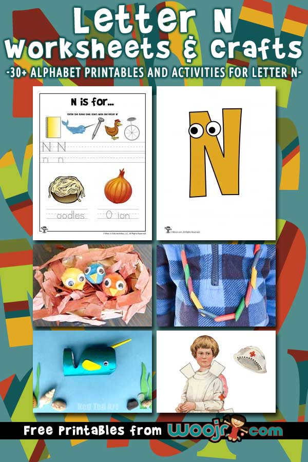 Letter N Worksheets and Crafts