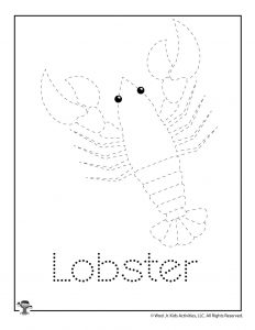 L is for Lobster Word Tracing