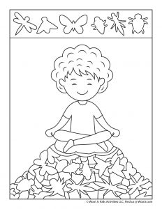 Meditation Hidden Picture Page