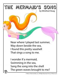 The Mermaid's Song Children's Poem