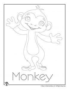 M is for Monkey Word Tracing