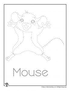 M is for Mouse Word Tracing
