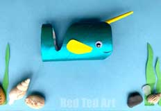N Narwhal Craft from RedTedArt
