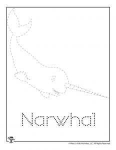 N is for Narwhal Word Tracing