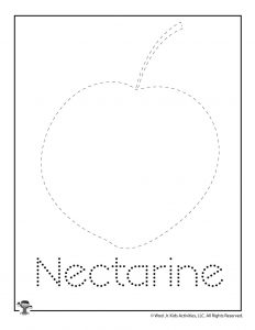 N is for Nectarine Word Tracing