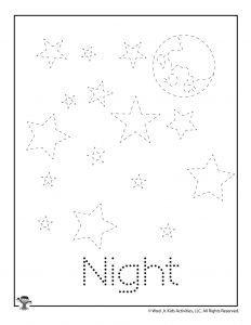 N is for Night Word Tracing