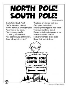 North Pole South Pole Children's Poem