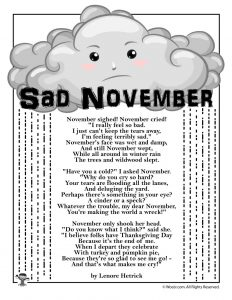 November Poem for Kids