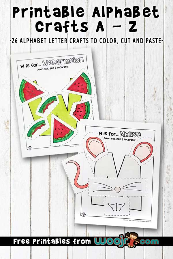 Printable Alphabet Crafts Letters A To Z Woo! Jr. Kids Activities