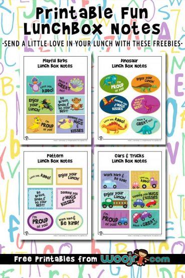 photograph relating to Printable Lunchbox Notes identify Printable Lunchbox Notes for Little ones Woo! Jr. Little ones Actions