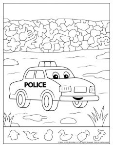 Police Car Hidden Pictures