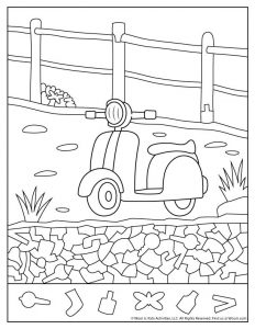Scooter I Spy Worksheet