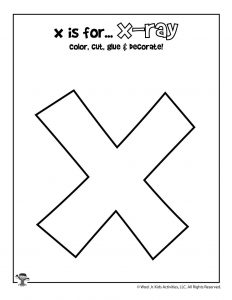 X is for X-Ray Coloring Craft Activity