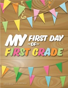 First Day of 1st Grade Sign - Wood