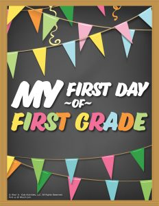 First Day of 1st Grade Sign - Chalkboard