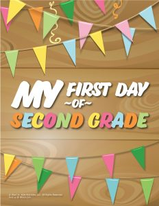 First Day of 2nd Grade Sign - Wood