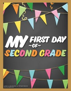 First Day of 2nd Grade Sign - Chalkboard