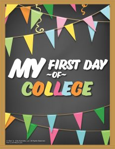 First Day of College Sign - Chalkboard