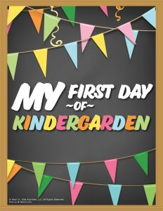 First Day of Kindergarten Sign - Chalkboard
