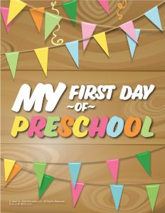 First Day of Preschool Sign - Wood